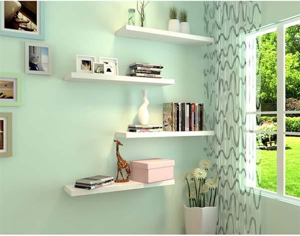 Inspirasi Rak Dinding Minimalis Untuk Hiasan Ruangan Yang Cantik