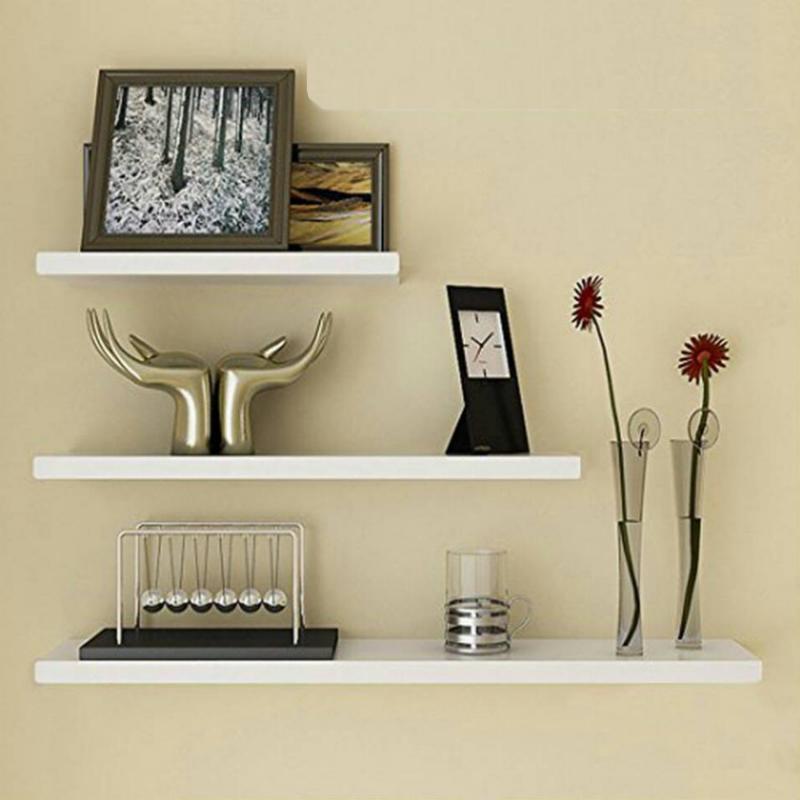 Rak Dinding/Ambalan 3 Buah [ 50/40/30 cm ] - Putih