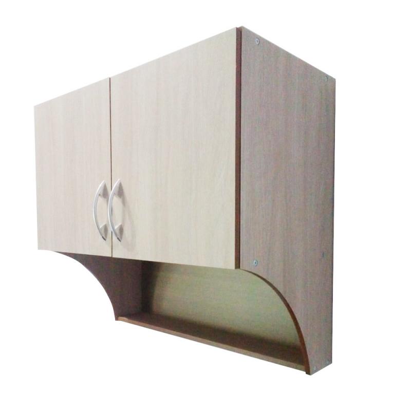 Lemari Dapur Atas 2 Pintu Bahan Plywood - Natural Serat Kayu