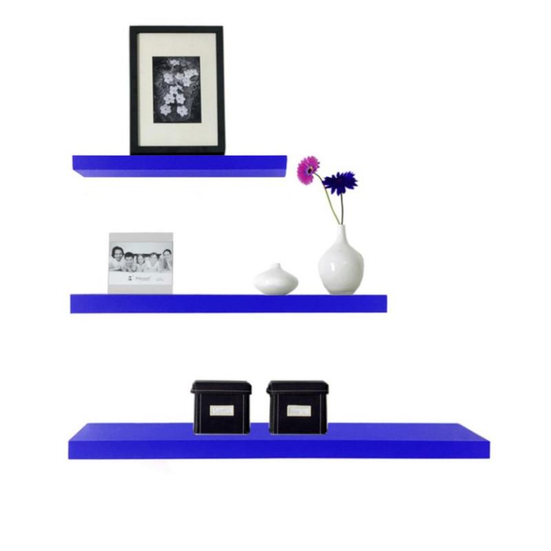 Rak Dinding/Ambalan 3 Buah [ 50/40/30 cm ] - Biru
