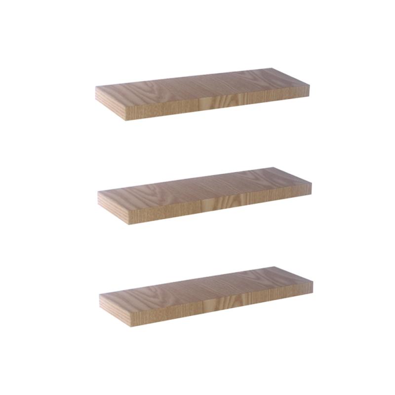 Rak Dinding/Ambalan 3 Buah [30x12cm] - Krem Serat Kayu