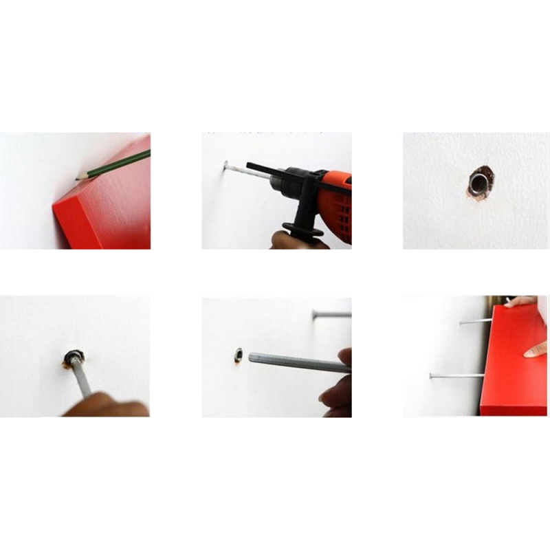 Rak Dinding/Ambalan Sudut 2 Buah [ 25 x 25 cm ] - Hitam