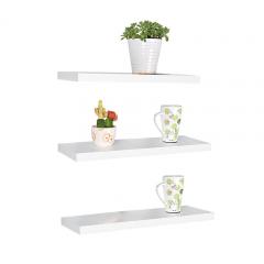 Floating Shelves - 1 Set 3Pcs Rak Dinding Minimalis - Putih - Panjang 30cm