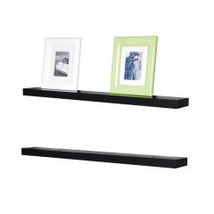Rak Dinding/Ambalan 2 Buah [60x12cm] - Hitam