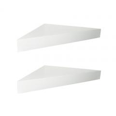 Floating Shelves Segitiga - 2 Pcs Rak Dinding Sudut Minimalis - Putih