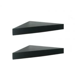Floating Shelves Segitiga - 2 Pcs Rak Dinding Sudut Minimalis - Hitam