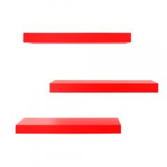 Rak Dinding/Ambalan 3 Buah [40x12cm] - Merah