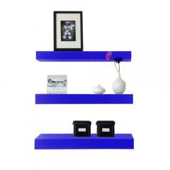 Rak Dinding/Ambalan 3 Buah [40x12cm] - Biru