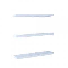 Rak Dinding/Ambalan 3 Buah [40x12cm] - Putih