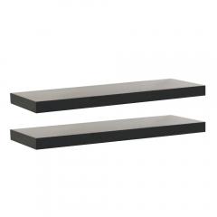Rak Dinding/Ambalan 2 Buah [60x20cm] - Hitam