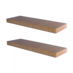 Rak Dinding/Ambalan 2 Buah [60x20cm] - Krem Serat Kayu