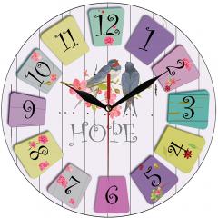 Jam Dinding Hope Gambar Burung - Sweep Movement