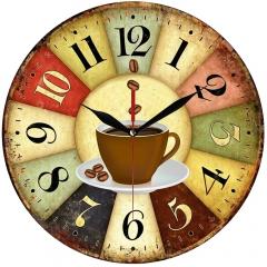 Jam Dinding Vintage Coffee - Sweep Movement