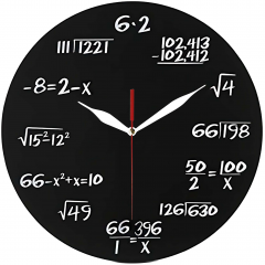Jam Dinding Tema Matematika - Sweep Movement