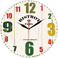 Jam Dinding Bistrot De Paris - Sweep Movement