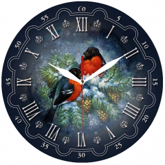 Jam Dinding Love Bird - Sweep Movement