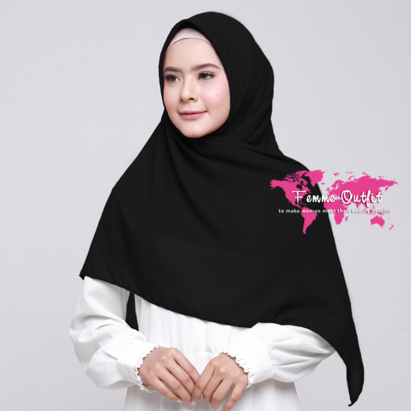 Alicia Shawl Square Black