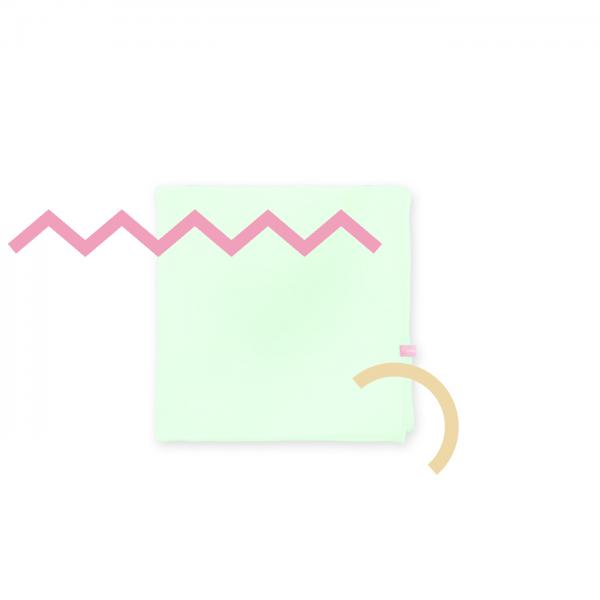 Organza Shawl Square Baby Mint Green