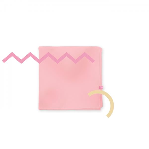 Organza Shawl Square Pinky Peach