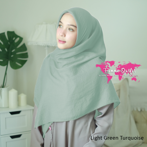 Azzura Shawl Square Baby Green Turquoise