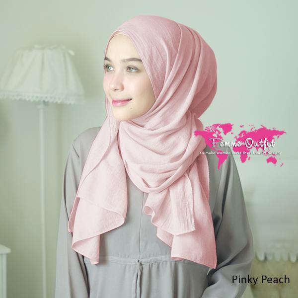 Azzura Shawl Pashmina Pinky Peach