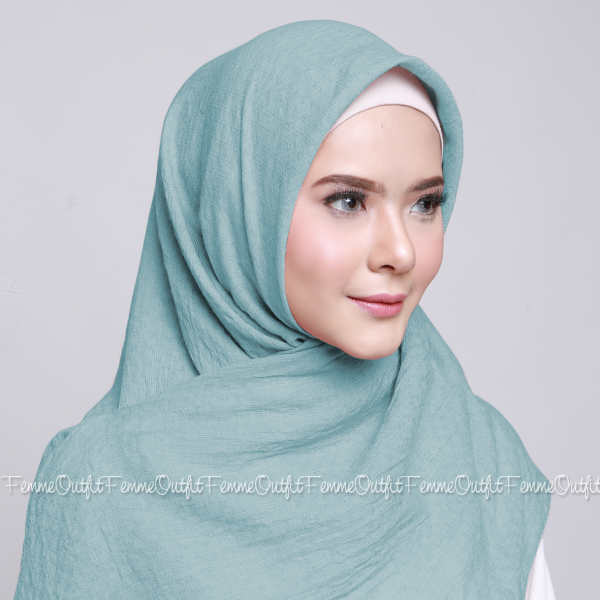Allura Shawl Square Beach Blue