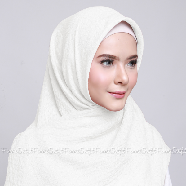Allura Shawl Square Broken White