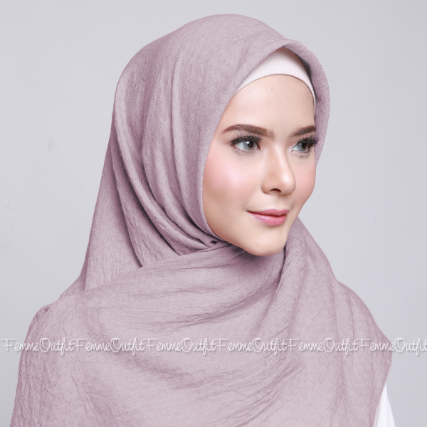 Allura Shawl Square Light Dusty Purple