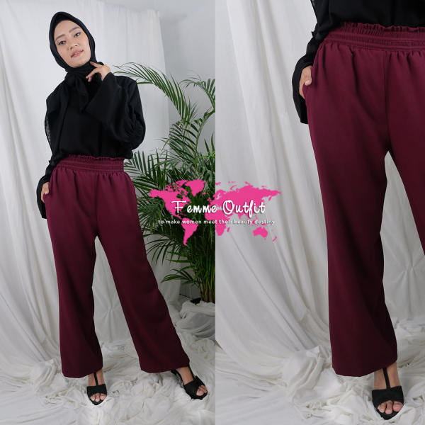 Alynda Pants Red Wine Size L