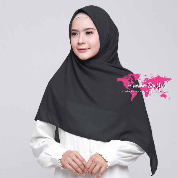 Alicia Shawl Square Dark Grey