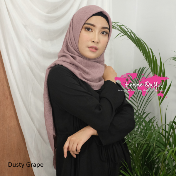 Alexa Shawl Syari 130 cm Dusty Grape