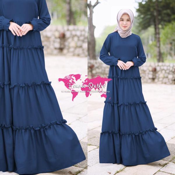Alicia dress Allsize Light Navy Blue