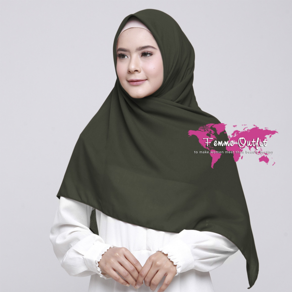 Alicia Shawl Square Deep Army
