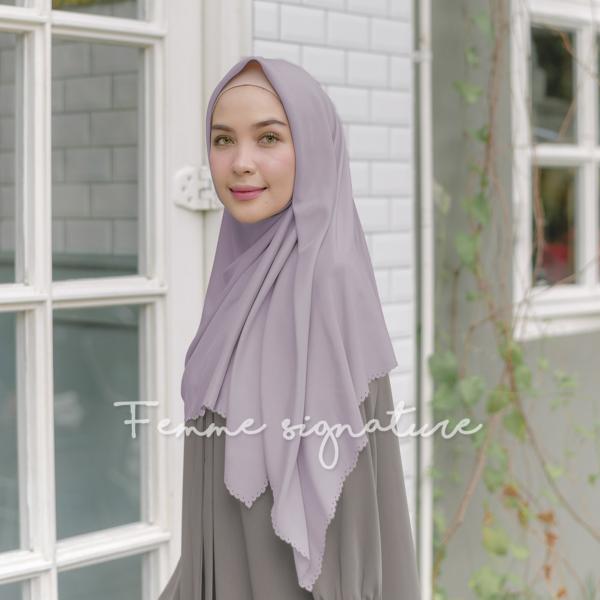 Khadijah Shawl Square Dusty Lavender