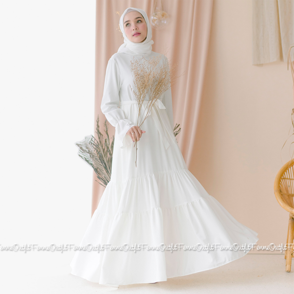 Aisyah Dress Broken White Size S