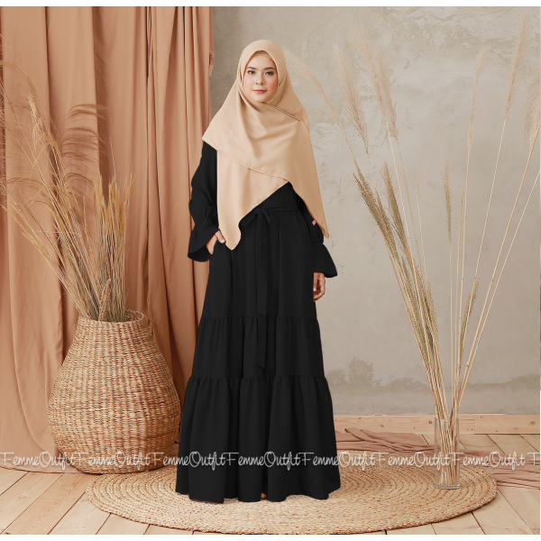 Aisyah Dress Black Size L