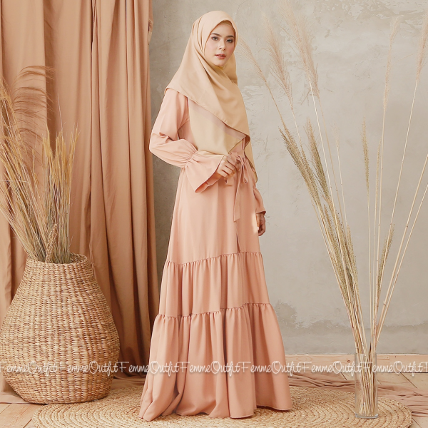 Aisyah Dress Dusty Peach Size XL