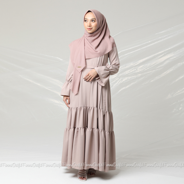 Aisyah Dress Beige