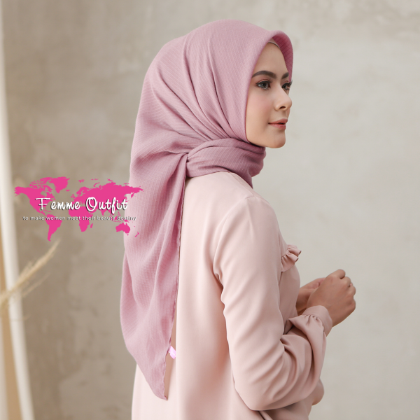 Wava Shawl Square Dusty Pink