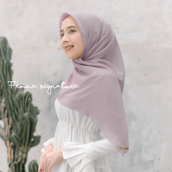 Fatimah Shawl Square Dusty Lavender