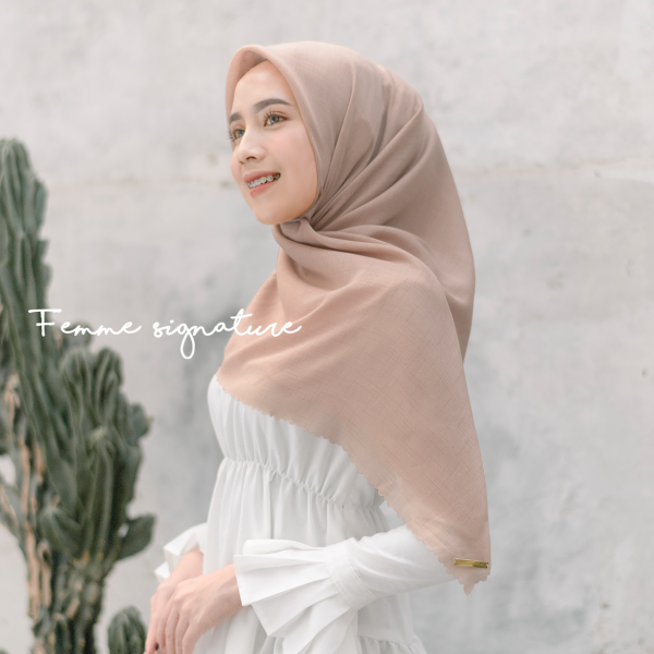 Fatimah Shawl Square Dusty Peach
