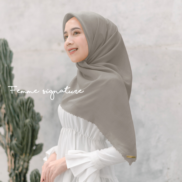 Fatimah Shawl Square Light Khaki