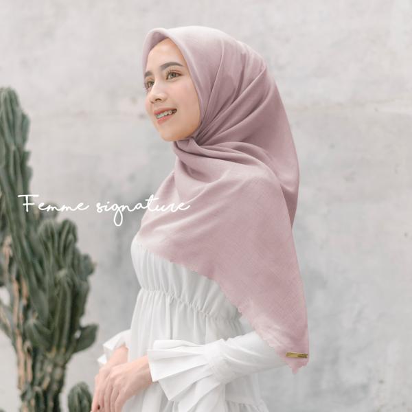 Fatimah Shawl Square Pink Nude