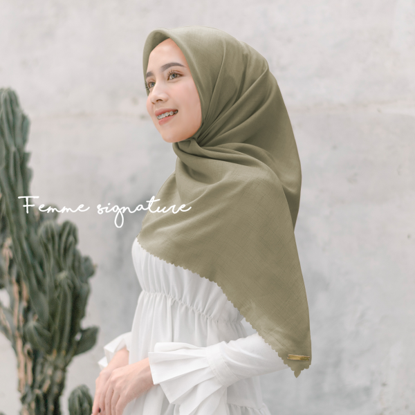 Fatimah Shawl Square Sweet Avocado
