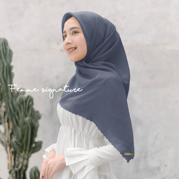 Fatimah Shawl Square Sweet Fairy Blue