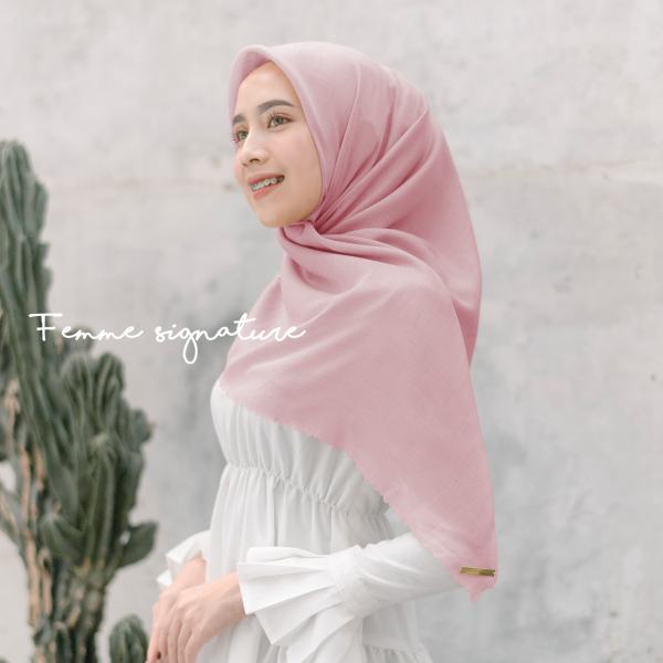 Fatimah Shawl Square Sweet Pink