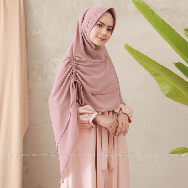 Fatihah Khimar Light Dusty Pink
