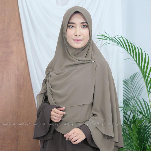 Fatihah Khimar Khaki