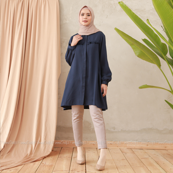 Laiqa Blouse Deep Navy Blue