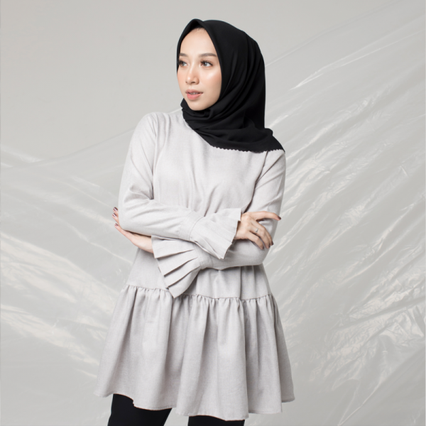 Khadijah Top Grey